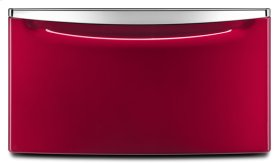 "15.5"" Laundry Pedestal with Chrome Handle and Storage Drawer - red"