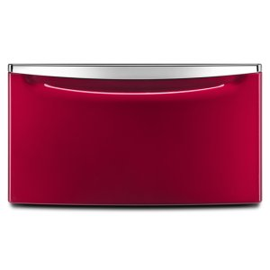 "Amana15.5"" Laundry Pedestal with Chrome Handle and Storage Drawer - red"