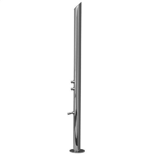 Polished Stainless - Aqua Adagio Outdoor Shower Column- Floor Install