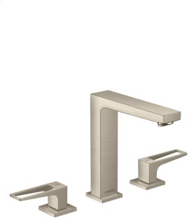 Brushed Nickel Metropol 160 Widespread Faucet with Loop Handles, 1.2 GPM