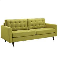 Empress Upholstered Fabric Sofa in Wheatgrass