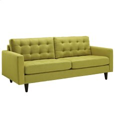 Empress Upholstered Fabric Sofa in Wheatgrass Product Image
