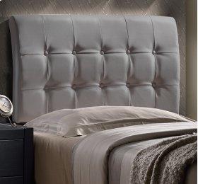 Lusso Headboard - Twin - Gray Pu (faux Leather)