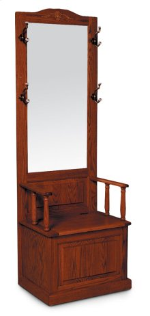 Hall Seat with Rectangular Beveled Mirror