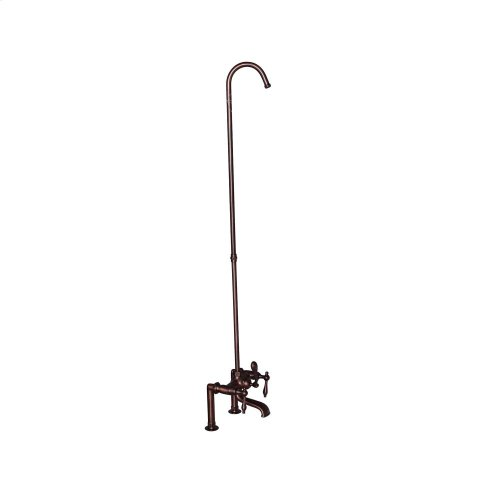 Tub Rim-Mounted Filler with Diverter and Riser - Metal Lever Handles - Oil Rubbed Bronze