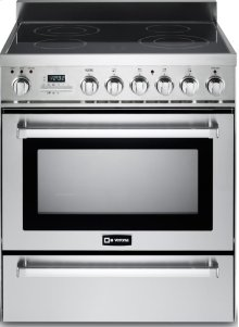 """Stainless Steel 30"""" Self-Cleaning Electric Range"""