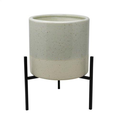 Outdoor Citronella Candle In Ceramic, Beige