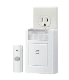 "Plug-In Door Chime Kit with Strobe Light, 3-3/4""w x 4-1/2""h x 1-5/8""d"
