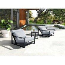 Renava Boardwalk Outdoor Grey Lounge Chair Set