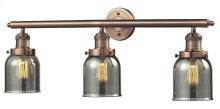 205-AC-G53 - SMALL GLASS BELL 3 LIGHT WALL BRACKET