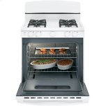 """Ge(r) 30"""" Free-Standing Front Control Gas Range"""