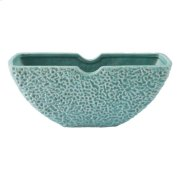 Lineal Half Moon Bowl Matte Green Product Image