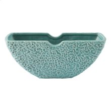 Lineal Half Moon Bowl Matte Green