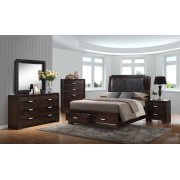 Brandy Dark Storage Bedroom Product Image