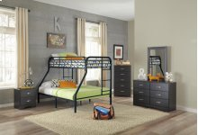 Black Twin/Full Bunkbed