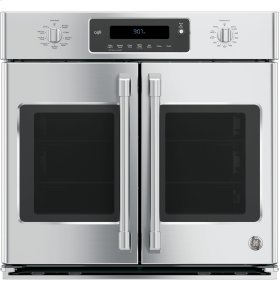 "CLOSEOUT - GE Cafe™ Series 30"" Built-In French-Door Single Convection Wall Oven"