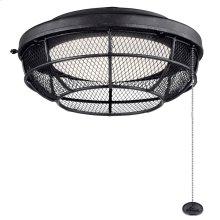 Industrial Mesh LED Outdoor Light Kit Distressed Black