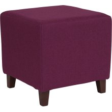 Ascalon Upholstered Ottoman Pouf in Purple Fabric