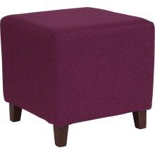 Ascalon Upholstered Ottoman Pouf in Purple Fabric