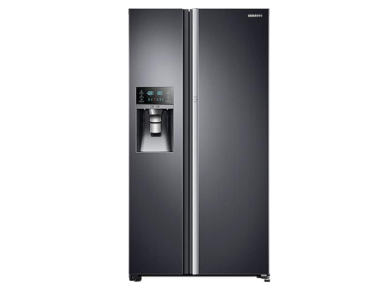 Samsung Appliances22 Cu. Ft. Food Showcase Counter Depth Side-By-Side Refrigerator With Metal Cooling In Black Stainless Steel