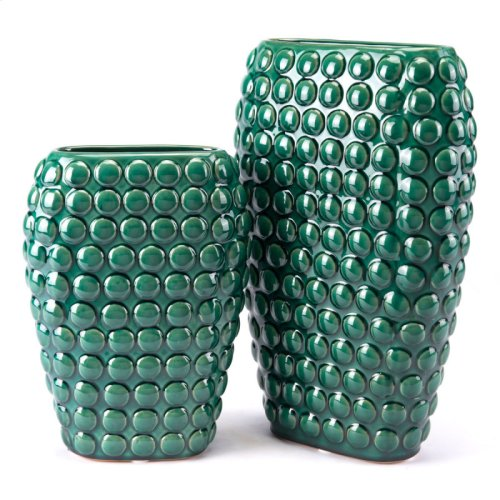 Dots Vase Lg Green