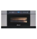 "DACOR Discovery 30"" Microwave-In-A-Drawer in Stainless Steel, with Vertical Black Glass"