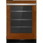 """JENNAIR CANADAPanel-Ready 24"""" Under Counter Glass Door Refrigerator, Right Swing, Stainless Steel"""