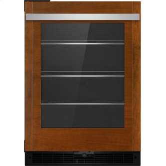 "Panel-Ready 24"" Under Counter Glass Door Refrigerator, Right Swing, Stainless Steel"