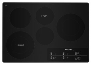 "30"" Electric Cooktop with 5 Elements and Touch-Activated Controls - Stainless Steel Product Image"