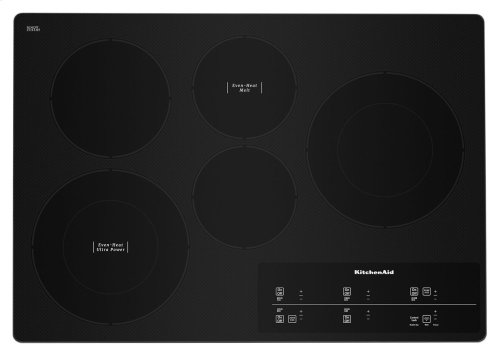 """30"""" Electric Cooktop with 5 Elements and Touch-Activated Controls - Stainless Steel"""