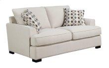 Loveseat W/2 Accent Pillows-beige#m10144-linen
