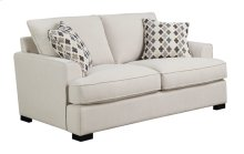Loveseat W/2 Accent Pillows-beige#m10144-linen