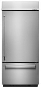 "Built-In Stainless Bottom Mount Refrigerator 20.9 Cu. Ft. 36"" Width - Stainless Steel Product Image"