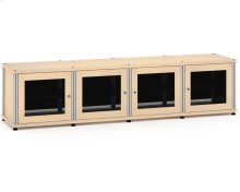 Synergy Solution 247, Quad-Width AV Cabinet, Maple with Aluminum Posts
