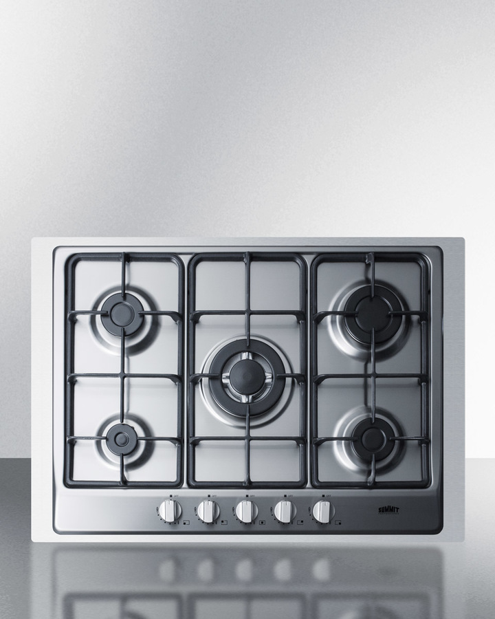 d10aad00d Summit 5-Burner Gas Cooktop Made In Italy In Stainless Steel Finish With  Sealed Burners