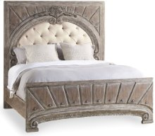 True Vintage King Upholstered Panel Bed