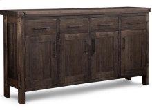 Rafters Sideboard w/4 Wood Doors & 4/Dwrs & 3/Wood Adjust.