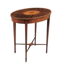 HEPPLEWHITE OVAL OCCASIONAL TABLE
