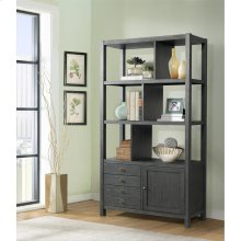 Perspectives - Bookcase Etagere - Ebonized Acacia Finish