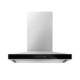 """Lustre Stainless 36"""" Pyramid Style Canopy Wall Hood, Stainless Steel"""