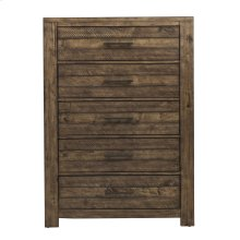 Chest with Five Drawers and Distressed Finish