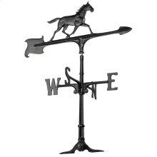 "30"" Horse Accent Weathervane - Black"