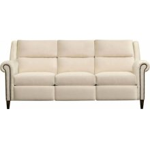 64 Loveseat, Leather Woodlands Roll Arm Sofa With Nails