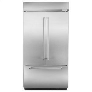 "Kitchenaid24.2 Cu. Ft. 42"" Width Built-In Stainless French Door Refrigerator - Stainless Steel"