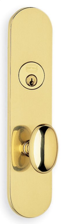 Exterior Traditional Mortise Entrance Knob Lockset with Plates in (Exterior Traditional Mortise Entrance Knob Lockset with Plates - Solid Brass )