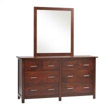 Oasis High Dresser- 1in Bevel Mirror