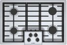 "500 Series, 30"" Gas Cooktop, 4 Burners, Stainless Steel Product Image"