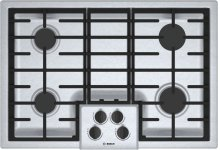 "500 Series, 30"" Gas Cooktop, 4 Burners, Stainless Steel"