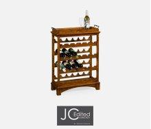 Four-Tier Wine Shelf in Country Walnut