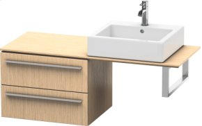 Low Cabinet For Console, Brushed Oak (real Wood Veneer)